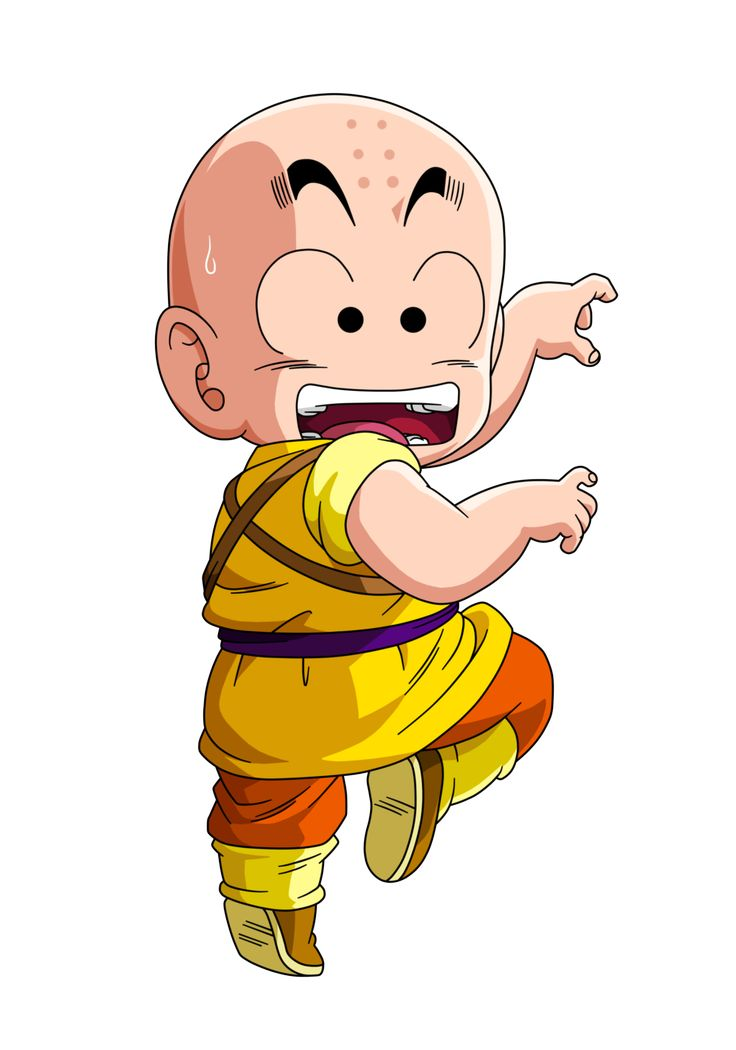 Did you know that Krillin studied in the temple of Bruce Lee? Probably he met Chuck Norris too! | Krillin, Dragon Ball  クリリン