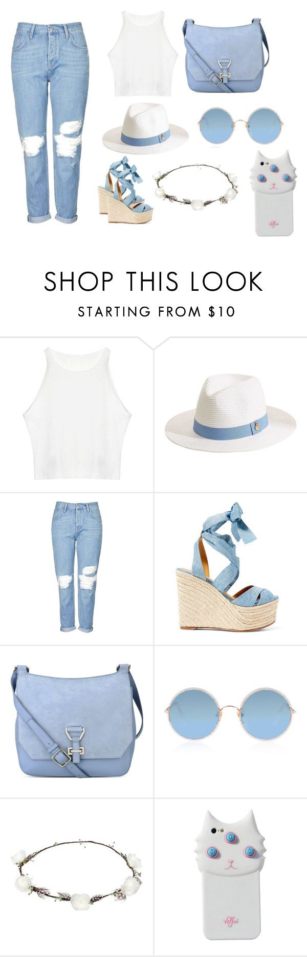 """blue and white hat"" by queensprings010 ❤ liked on Polyvore featuring Melissa Odabash, Topshop, Ralph Lauren, Nine West, Sunday Somewhere, Lipsy and Valfré"