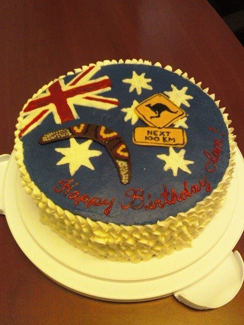 Australia Themed Birthday Cake | baby shower supplys ...