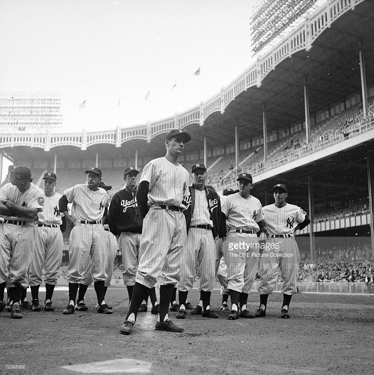 New York Yankee 2nd baseman Jerry Coleman is backed up by teammates after he had…
