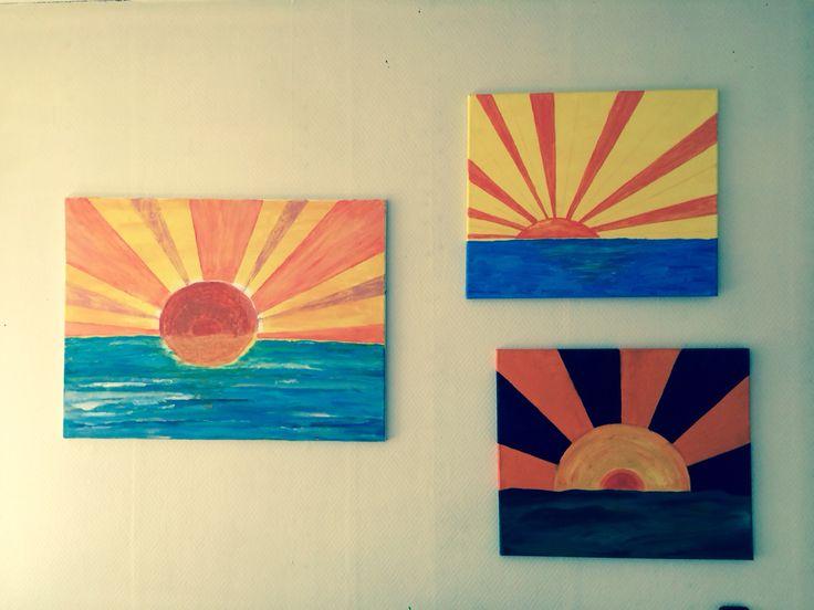 Sunset canvas