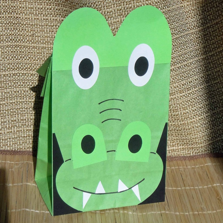 Alligator Birthday Party Favor Treat Sacks Reptile Swamp Crocodile Theme Goody Bags by jettabees on Etsy. $15.00, via Etsy.