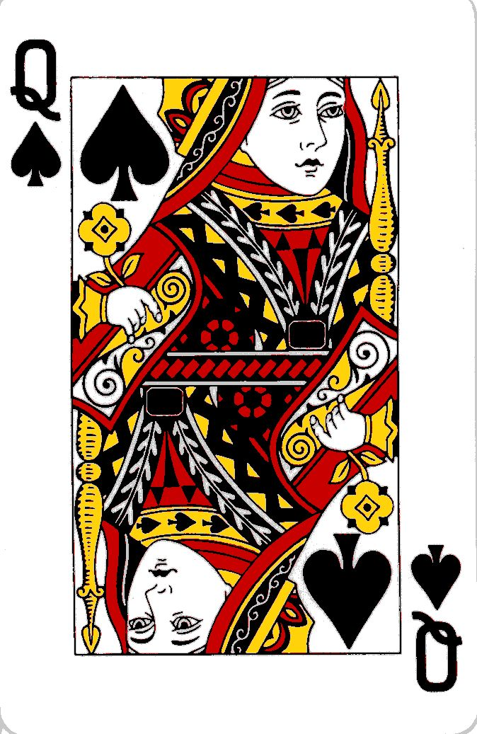 Queen Playing Card | image via madore.org