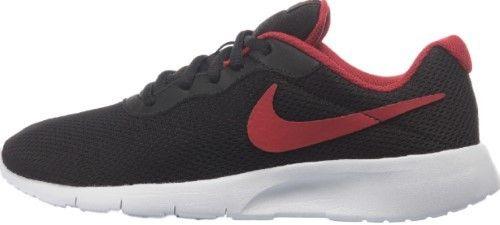 Nike 818381-010 : Boy's Tanjun GS Running Shoes Black/Red (4 Big Kid M)