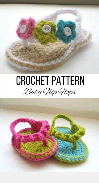 29d877528abd Crochet Flip Flops Pattern for Baby
