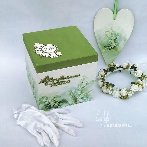 Komunijne pudełko decoupage w wykonaniu Oli z naszego DT :)
