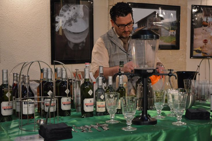 Absinthiades 2015 at Pontarlier. The team from Pernod Ricard served some absinthe cocktails. Very delicious!