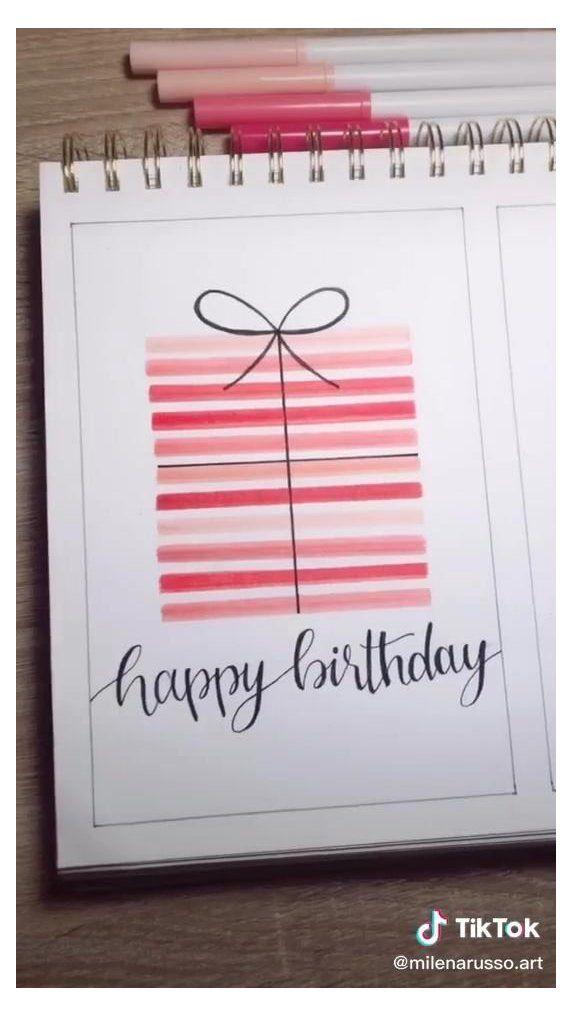 Handmade Birthday Gifts For Mom Handmadebirthdaygiftsformom In 2021 Birthday Cards Diy Happy Birthday Cards Diy Birthday Card Drawing