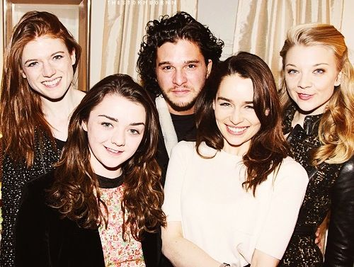 Rose Leslie, Maisie Williams, Kit Harrington, Emilia Clarke and Natalie Dormer all of them amazing, young and talented actors!