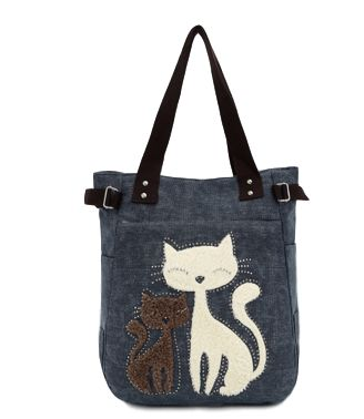 For a LIMITED TIME ONLY we are offering our 'Canvas Cat' Handbag — 55% OFF — ONLY $21.96! ($49.99 value) Grab one of our high quality canvas cat bags today! - Material: 100% Canvas( Cotton+Polyester)