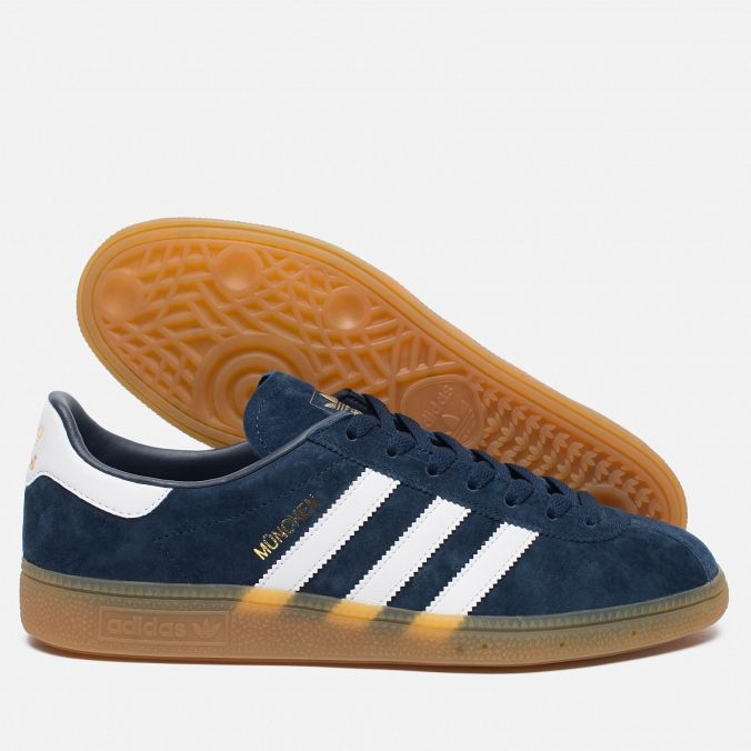 adidas Originals Munchen Spezial Blue/White/Gum. Article: BB5297. Year: