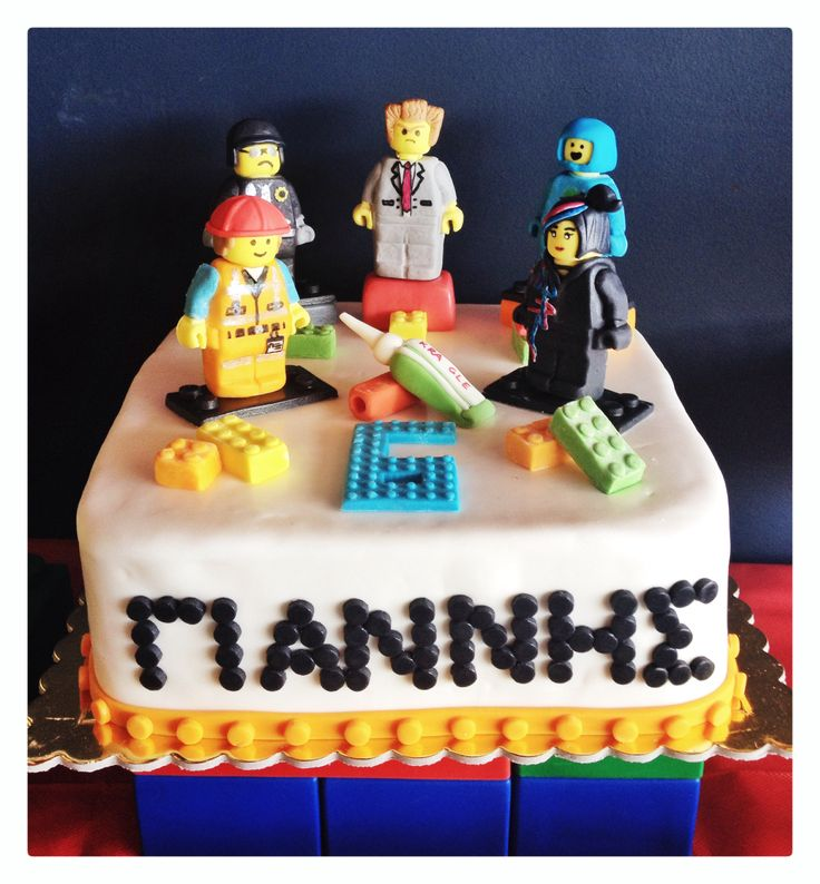 The lego movie birthday cake for my sons 6th Bday!!