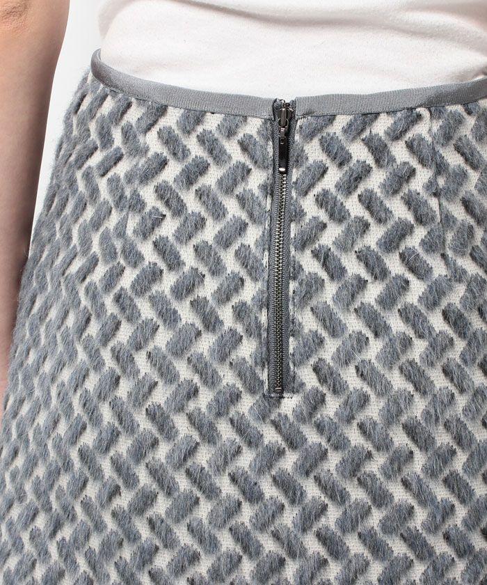 幾何シャギーAラインスカート