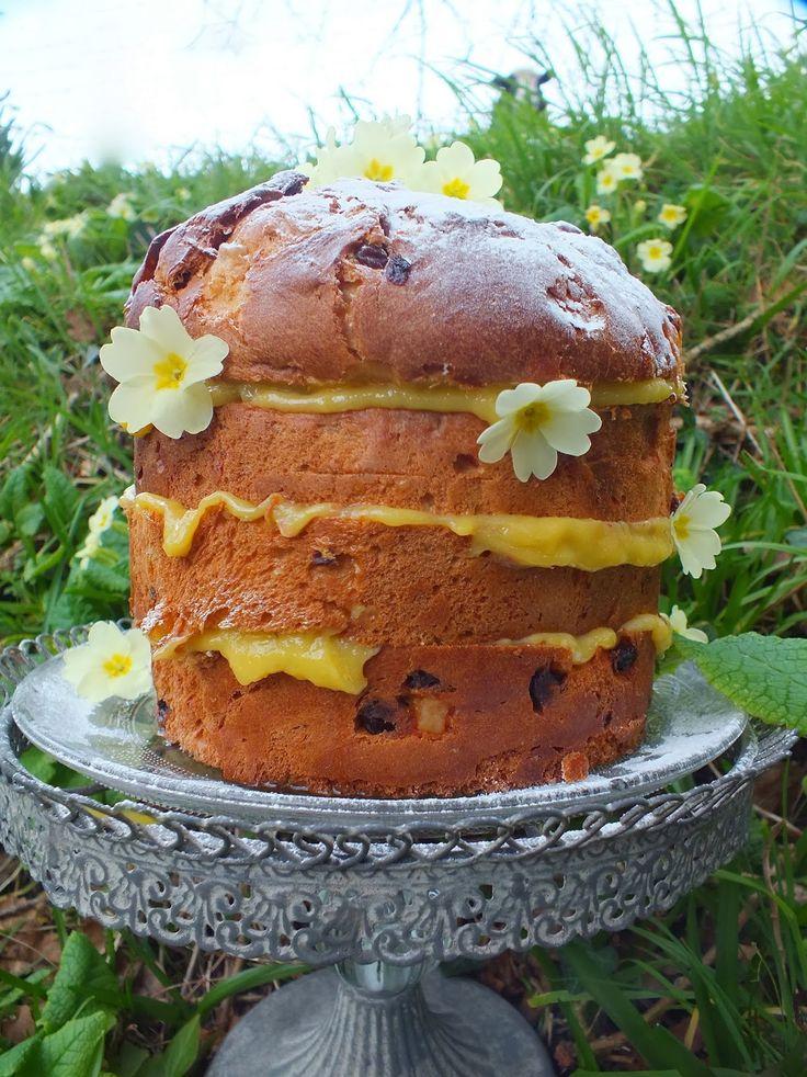 Edible flowers: Bling or Spring? Primrose Panatonne Pudding