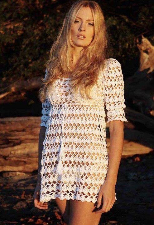 free crochet dress patterns for women | CROCHET PATTERNS FOR WOMEN'S PLUS CLOTHING - Crochet Club