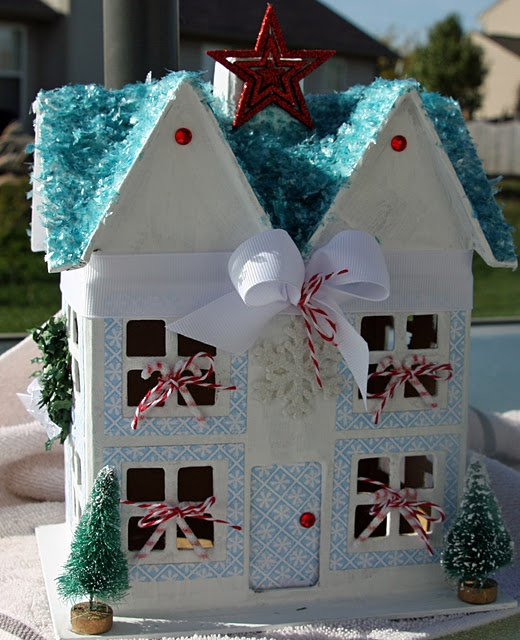 1000 images about paper m ch houses on pinterest house for Paper mache christmas