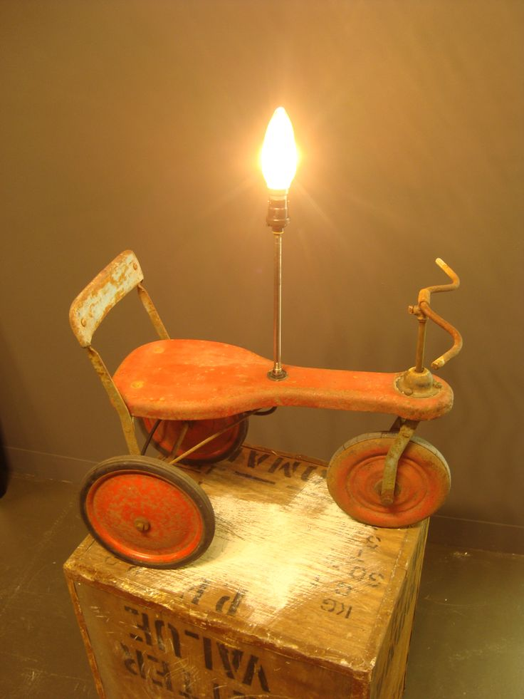 Vintage trike light. Www.lostandfoundry.co.uk