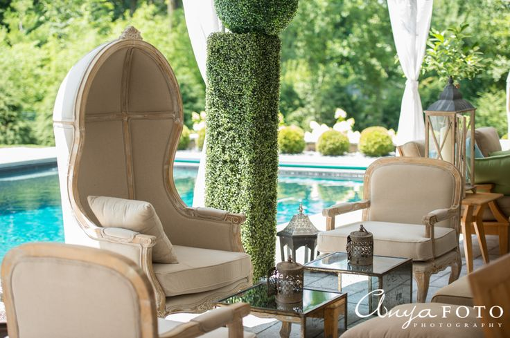 Outdoor furniture fit for royalty | Aramat Events // Images by AnyaFoto Photography // www.anyafoto.com