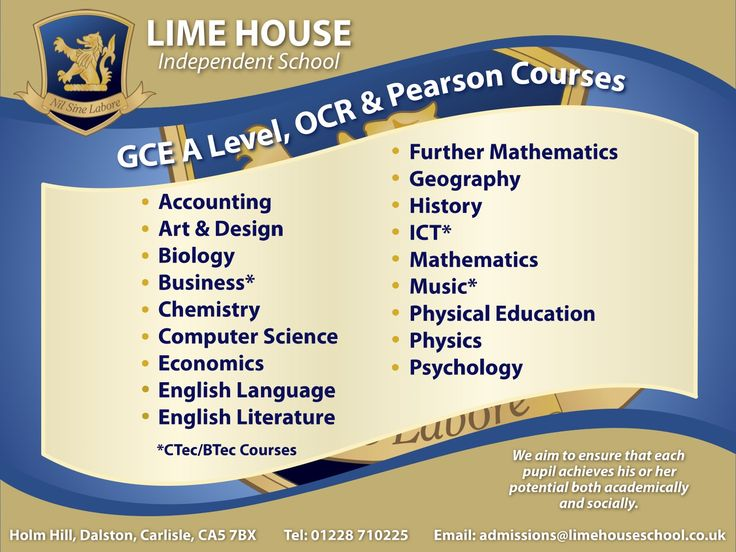 GCE A level, OCR and PEARSON Courses at Lime House School! #boardingschoolUK #boardingschoolsinEngland #topboardingschoolsinEngland  http://best-boarding-schools.net/united-kingdom-country-schools#.WqGOhcbOPow