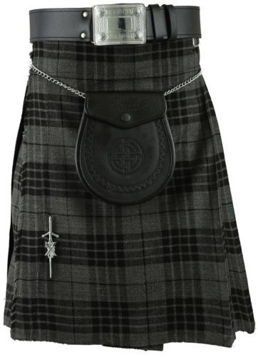 Grey Scottish Mens Kilt Tartan Kilts Sporran All sizes | eBay