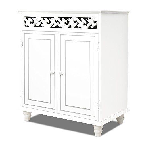 Commode en bois JERSEY blanche buffet blanc dressoir style intérieur séjour 76cmx65cmx35cm: Cet article Commode en bois JERSEY blanche…