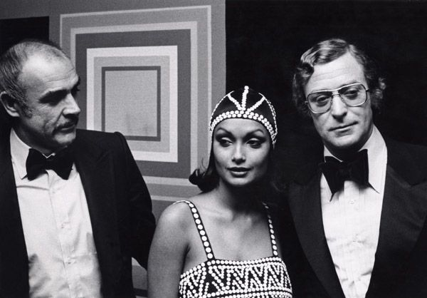 Sean Connery, Michael and Shakira Caine, 1975