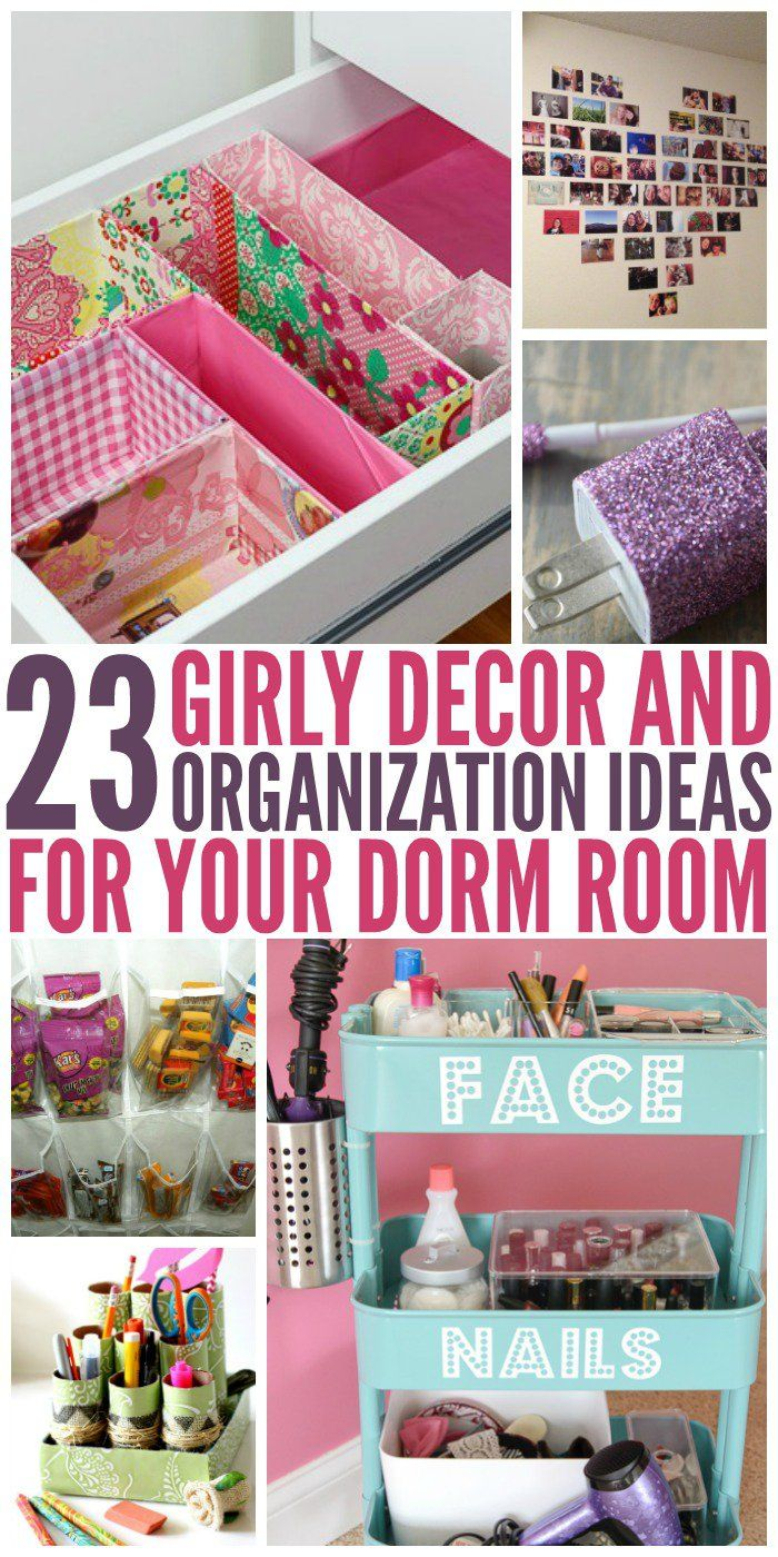 I know several people who would love these cute dorm room organization ideas! -One Crazy House