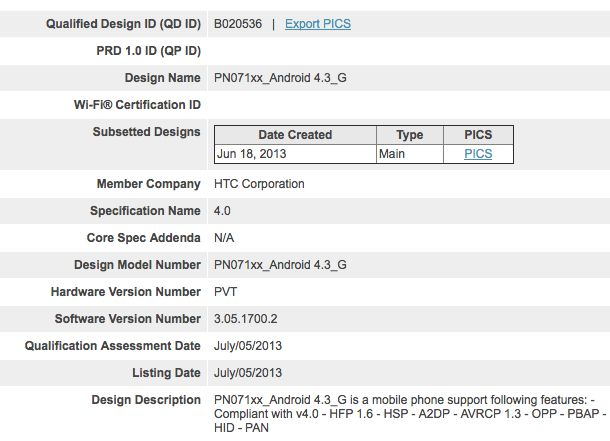 Android 4.3 running on HTC One revealed