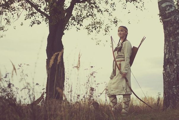 """recreation of the Mari people (Finno-Ugric), the end of the 10th early 11th centuries. """"Сонарзе ӱдыр"""""""