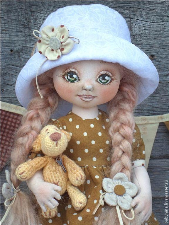 Купить Заботливая Сонечка - коричневый, кукла ручной работы, кукла в подарок, кукла текстильная
