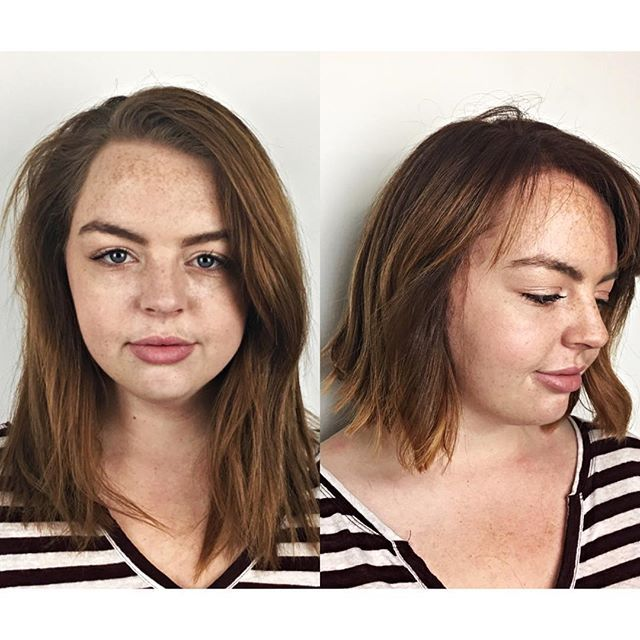 #beforeandafter #hairtransformation #shorthair #lobhair by Liz Mckeane for #aflickofhares #AFOH
