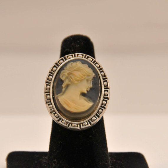 Vintage Costume Jewelry Cameo Ring by Cinerama by Zoftigdoll. $19.99, via Etsy.