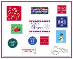 printable north pole stamps -- for any mail your household may receive from the North Pole.