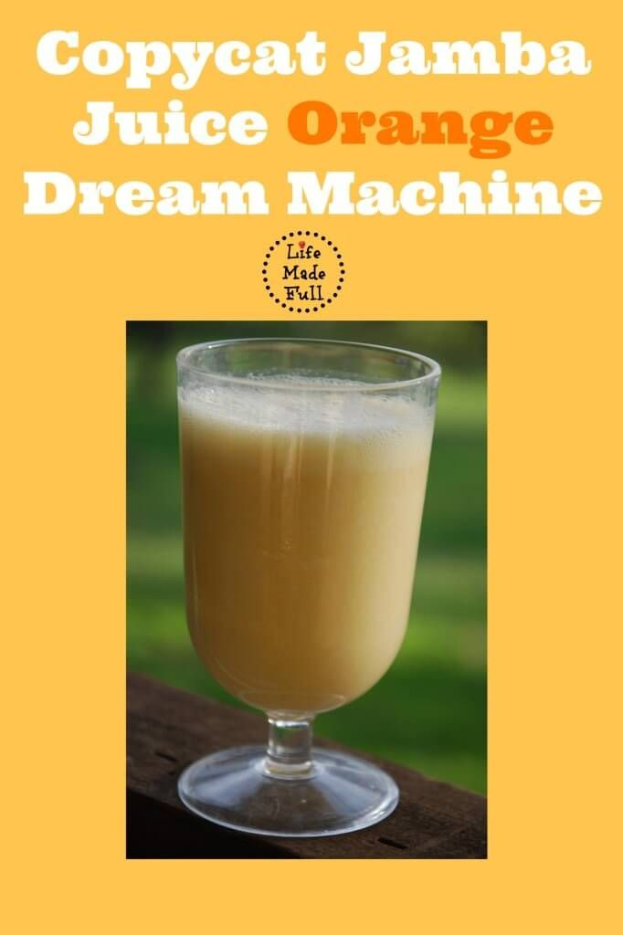 It's so much more cost efficient (and healthier) to make this orange dream machine at home!
