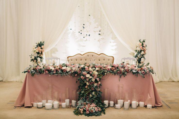 Wedding decor, wedding, wedding flowers, table flowers, sweetheart table wedding decorations, wedding, зимняя свадьба, свадьба, оформление свадьбы, церемония, пара, гости, оформление зала, место пары