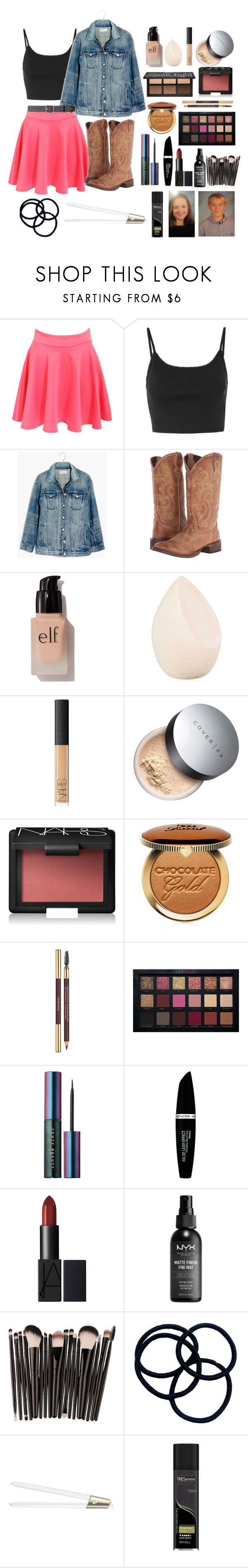 """Untitled #820"" by riddle-me-bliss ❤ liked on Polyvore featuring Pilot, Topshop, Madewell, Roper, e.l.f., Christian Dior, NARS Cosmetics, Cover FX, Too Faced Cosmetics and Yves Saint Laurent"