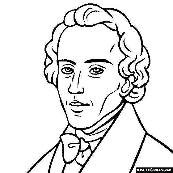 frederic chopin coloring page