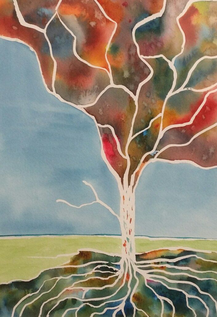 Painting - Watercolor on 140lb Arches - Enchanted Tree 8