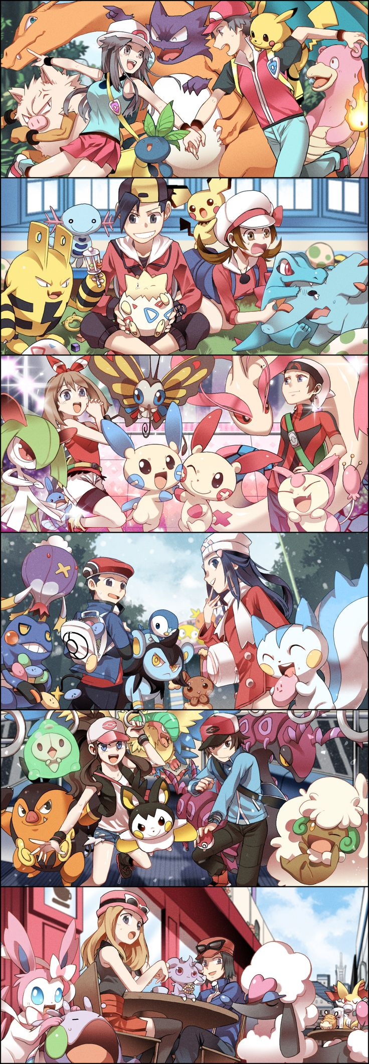 Pokemon de cada generación
