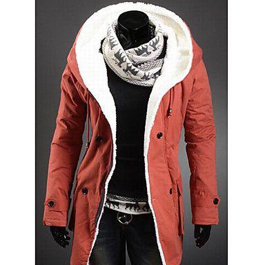 Men's hoodie thick velvet inside casual coat – USD $ 66.49