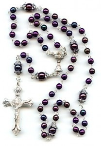 "Rock the beads, man.    Twelve Tips for Praying the Family Rosary Daily (http://cantuar.blogspot.com/2010/09/12-tips-for-praying-family-rosary-daily.html)      1.    Pray using alternation (The father prays first half of Our Father and everyone else prays second half - same goes for Hail Mary and Glory be).    2.    Pray the Rosary after dinner but right before bed - this means homework needs to be finished before dinner. Homework kills the Rosary if you don't stay on top of it. You'll also need to say goodbye to watching prime time television - since this is the ideal window of praying together as a family.    3.    Pray the Holy Rosary always at the same place at the exact same time. Devotions become strong - even invincible - by constant custom and habit.       4.  Pray the Rosary in a special room and set up a little altar with a Bible on it, candles, a statue or image, holy water, or a relic.        5.  Dim the lights and light the candles when you begin. If you let the little ones light the candles - they will love it. Kids love fire. Make this a ""special time"" different from other times. We even burn incense on our domestic altar on feast days. (You can do this easily by placing a little metal screen over a votive candle and then by placing a few grains of incense on the screen. It's fast and easy. This way you don't have use charcoal.)        6.  Maybe begin with a hymn or Bible reading to slow things down and set the tone.        7.  The father sets the example. I recommend that the father kneel for the whole Rosary. This communicates importance and solemnity to the Rosary. Children attach importance to what dad does, e.g. mowing lawn, going to work, driving the ""dad car,"" etc.        8.  Make it a rule that the child who prays all the responses and volunteers to lead a mystery (10 beads) gets to stay up 10 minutes more than everyone that night - at our house this means you get to watch baseball or have a book read to you. This may be the most important tip. Kids under 7 or 8 need this sort of incentive. If you tell a 6 year old, pray the Rosary so that you receive grace and sanctity - they don't get it. If you say, pray the Rosary so that you can stay up and read a book with me - they'll hit their knees and pray like angels.        9.  The one who gets to stay up also gets to blow out the candle at the end. This gives another incentive to pray the prayers - especially for the younger ones. For some reason, blowing out the candle is a really big deal to younger children. (Kids love fire!!!). You'd be amazed how a four year old will attempt to stay still if he can only place a grain of incense on a flame or blow out a candle. (Did I mention that kids love fire?)        10.  End with invoking everyone's patron saint (your children's names, confirmation names, and other patrons). E.g. ""Saint Thomas: pray for us. Saint Jude: pray for us. Saint Anne: pray for us."" Always finish with St Joseph and then Holy Mary Mother of God. Then say ""Sacred Heart of Jesus: have mercy on us,"" three times. If you're shooting for the plenary indulgence, make sure to pray an Our Father and Hail Mary for the Pope.        11.  If family Rosary is new, start with one decade for a week. Then go to three for a week. Then go to five decades on the third week. Then don't ever stop.    12.  After the daily Rosary is established in your home, have each child announce a mystery and pray the whole decade. This gives them confidence in praying and makes it natural. Plus, they'll learn to memorize all the mysteries of the Holy Rosary - which means they will have memorized the biblical account of Christ's life, death, and glory! This is why the Rosary is called ""the Bible on beads."": Rosaries Beads, Prayer Beads, Rosaries Necklaces, Faith, Bible Reading, Rosaries Praying, Beautiful Rosaries, Holy Rosaries, Mary Prayer"