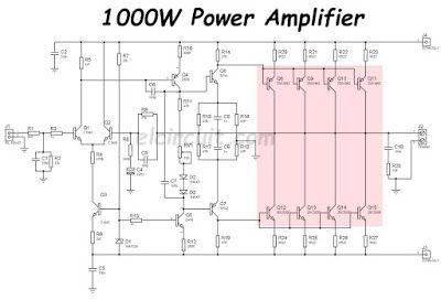 1000w power amplifier 2sc5200 2sa1943 in 2018 power amplifier1000w power amplifier circuit diagram 2sc5200 2sa1943