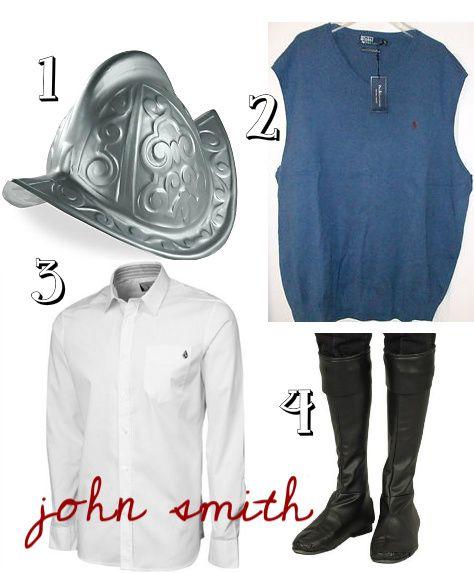 john smith costume   DIY John Smith Costume