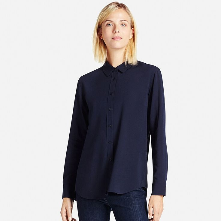 WOMEN Rayon Long Sleeve Blouse