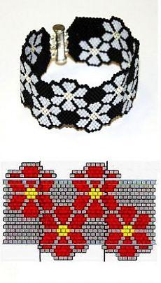 Beaded bracelet weaving mosaic, mosaic weaving scheme | Laboratory household