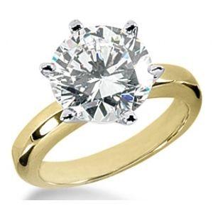 Verlobungsring mit einem 0.40 Karat Diamanten in 585er Gelbgold vom Juwelierhaus Abt in Dortmund günstig kaufen.  #diamantring #verlobung #gelbgold #diamant #brillant #juwelier #abt #dortmund