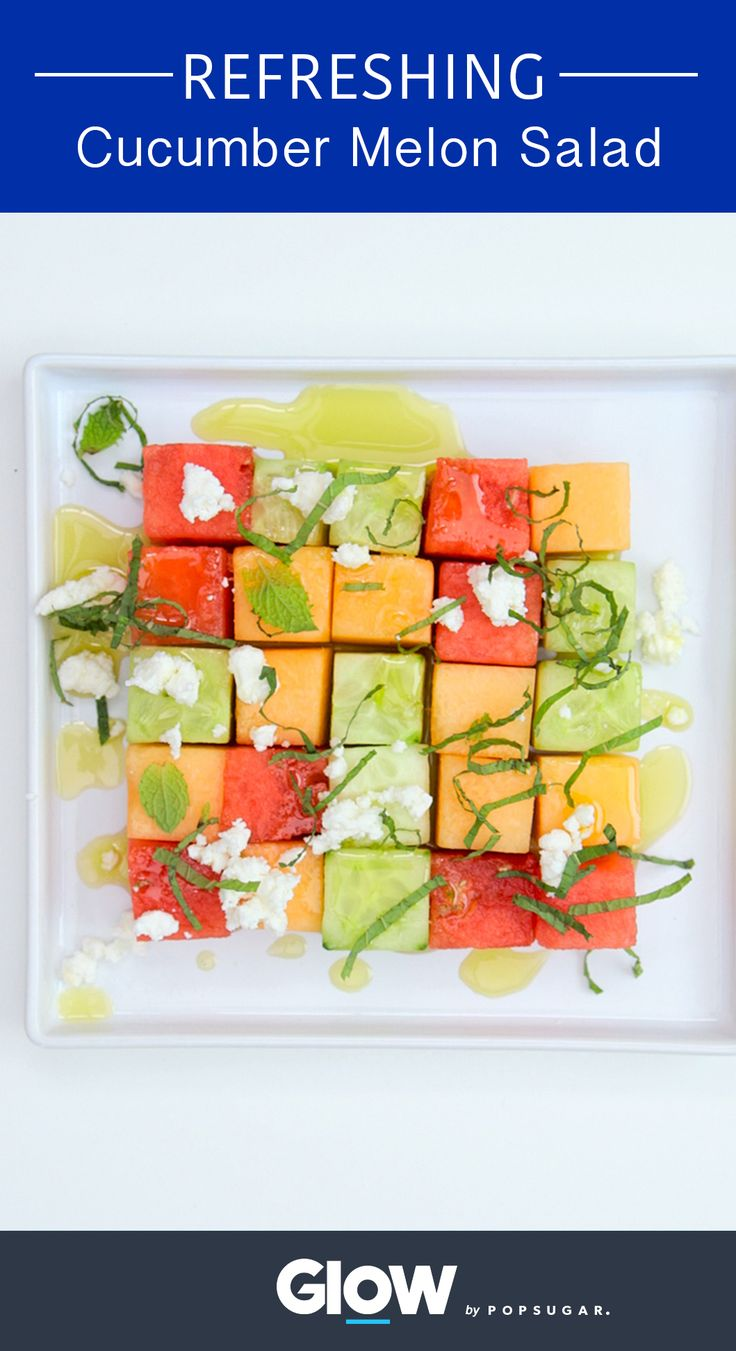 Learn how to make a refreshing and hydrating cucumber melon salad