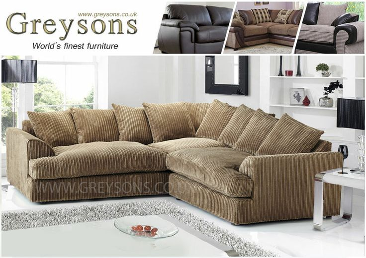 new dylan ferguson large corner sofa jumbo cord fabric 5 seater scatter back home decore. Black Bedroom Furniture Sets. Home Design Ideas