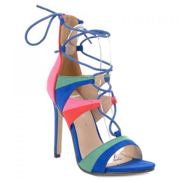Stylish Cross Straps and Multicolor Design Women's Sandals #women, #men, #hats, #watches, #belts, #fashion, #style