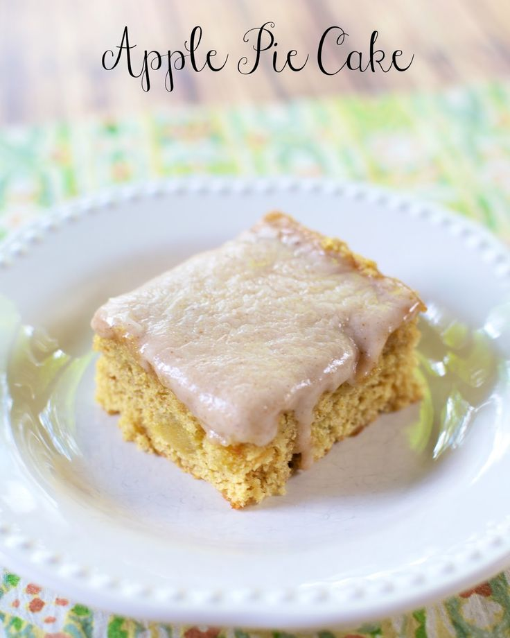 Apple Pie Cake - yellow cake and apple pie filling combine for a delicious treat!